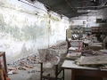 Khagendra New Life Special Education Secondary School's Library after earth quake.